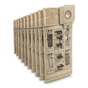 Фильтр-мешки бумажные для CV 30/1, 38/x, 48/x, 10 шт